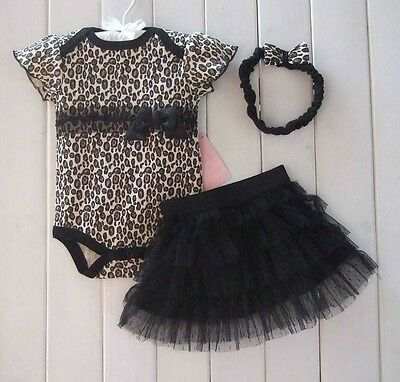 New Baby Girl Baby Girls Clothing Set 3PCS: headband+shirt+pant Princess Black