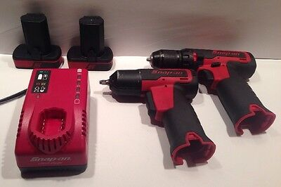 Snap-On - CT725 Impact Wrench + CDR761A Drill/Driver - 2 Batteries + Charger