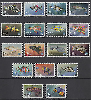 Lesotho Sc 1125-1141 MNH. 1998 International Year of the Ocean cplt, Fish