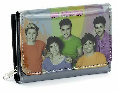 One Direction 1D Wallet Purse Coins Cash Credit Cards Zipped Girls Fan Gift New