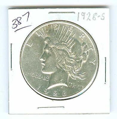 1928-S Authentic Coin - US Peace Silver Dollar XF-AU
