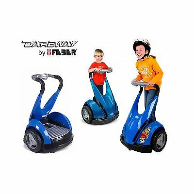 New Kids Feber Dareway 12v Battery Electric Ride on Car Balance Scooter Blue