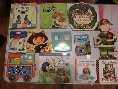 Lot A 50 Baby Toddler Chunky Board Books, Katz, Carle, Disney & More