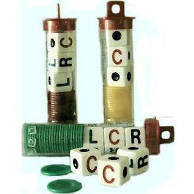 3 Sets of LCR! Left Center Right - Choice of 4 Colors dice game chips (3 SETS)