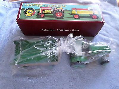 Schylling Collector Series - Tractor & Trailer - Wind-Up Action 4-Position Gear
