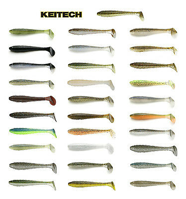 "Keitech Fat Swing Impact 4.3"" Paddle Tail Swimbait 6 Pack - Keitech Lures"