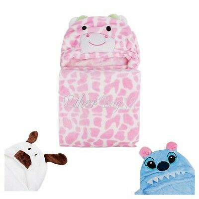 Newborn Animal Cartoon Baby Kids Hooded Blanket Bathrobe Toddler Nursery Towel