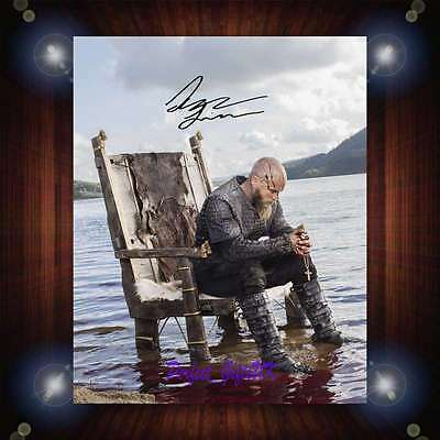 Travis Fimmel Ragnar Vikings TV Series Signed Autographed Framed Photo/Canvas