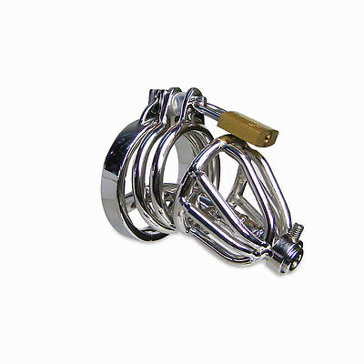 The Midget Stainless Steel Urethral Male Chastity Cage