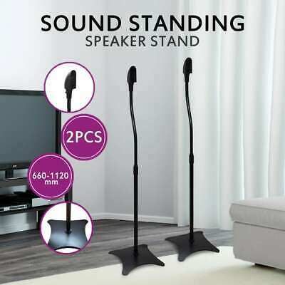 New 2pc Universal Monitor Speaker Stand Studio Steel Portable Black Adjustable