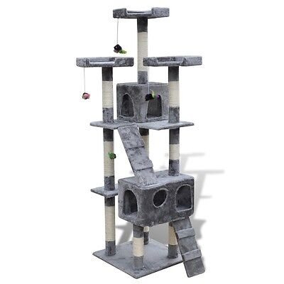 Cat Tree 170 Pet Scratcher Post Poles House Gym Cando Furniture Scratching Grey