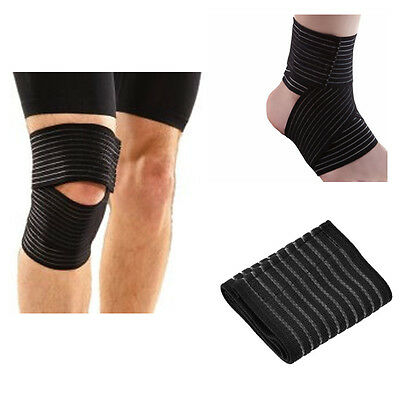 Knee, Ankle, Wrist, Elbow Wrapped Elastic Bandage Therapy Sport Wrap Pain Relief