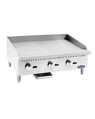 """Atosa USA ATMG-36 Heavy Duty 36"""" Griddle Grill Nat Gas LP Flat Stainless Steel"""