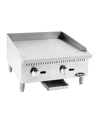 """Atosa USA ATMG-24 Heavy Duty 24"""" Griddle Grill Nat Gas LP Flat Stainless Steel"""