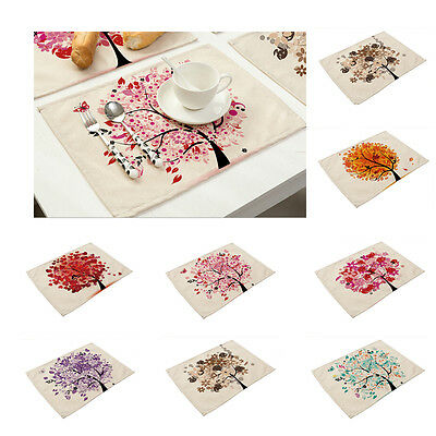 Colorful Life Tree Placemats Insulation Place Mats Table Coasters