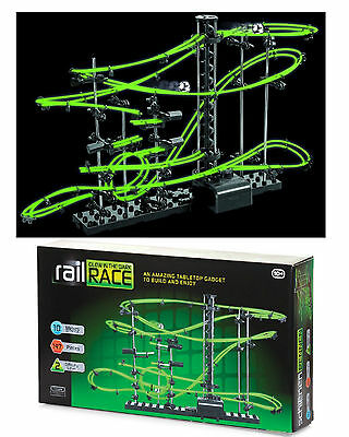Glow In The Dark Space Rail Race 10m Track Marble Run Space Toy Game Boys Gift