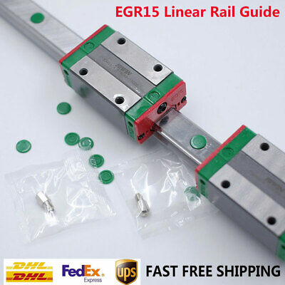 HIWIN 15mm Linear Rail Guide EGR15& 2pc EGH15CA Rail Block CNC Router Milling