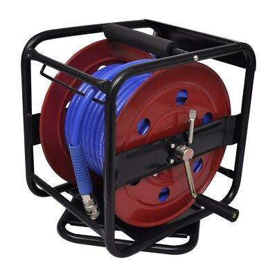Air Hose Reel 30M Retractable Rewind Compressor Breathing Grade Tool 250PSI