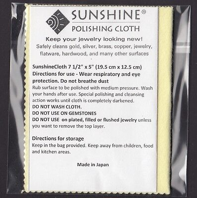 Sunshine Yellow Polishing Cloth Jewelry Cleaner Silver Gold Copper Jewellery