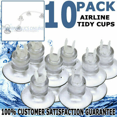 Biopro Aquarium Fish Tank Airline Air Line Tube Suction Cup Holder Tidy 10 Pack