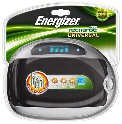 ENERGIZER UNIVERSAL CHARGER BATTERY LCD / AA / AAA / Mono / Baby /9V -OVP - NEW