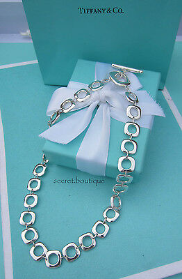 "AUTHENTIC Tiffany & Co. Square Cushion Links Necklace 16 1/2"" (#095A)"