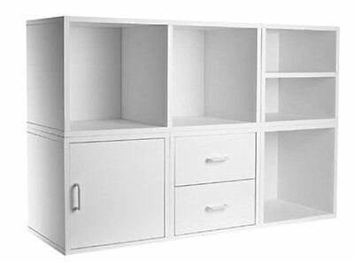 Foremost 340001 Modular 5-in-1 Shelf Cube Storage System, White