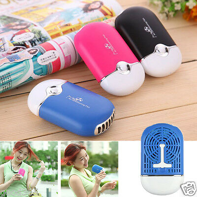 Rechargeable Portable Mini Handheld Air Conditioning Cooling Fan USB Cooler BE
