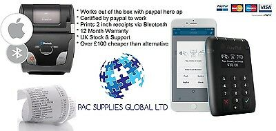 PayPal Here Contactless Chip & Pin Card Reader + Woosim r241 - 100% compatible