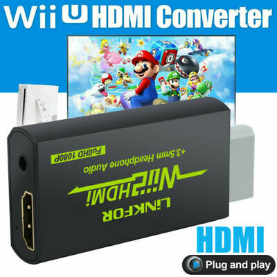 Mini Wii to HDMI Wii2HDMI Converter 1080P Full HD+3.5MM Audio Output Adapter TV