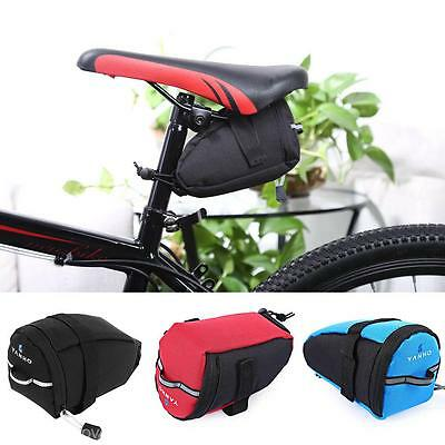 Bike Bicycle MTB Cycling Seatpost Saddle Bag Tail Rear Pannier Pouch Seat Bag