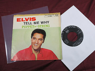 Elvis Presley  TELL ME WHY / PUPPET ON A STRING  7'' Single RCA Victor 47-8698