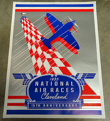 1935 National Air Races Poster-Cleveland Ohio