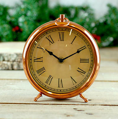 Copper Mantle Clock Vintage Style Gift