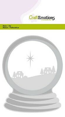Craft Emotions Cutting & Embossing Dies SNOW GLOBE WITH HOUSES 0508