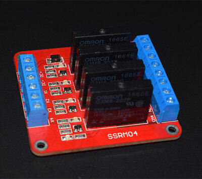 New 4 Channel 5V Solid State Relay Module Board.OMRON SSR for Arduino