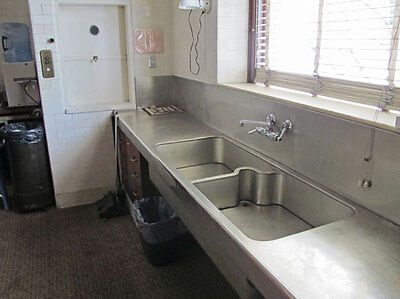 Antique Nickel Silver Kitchen Sink Pantry Cabinets Ice Box Warming Oven 1287-16