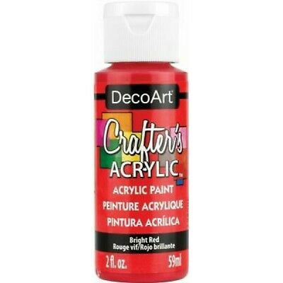 DecoArt Bright Red Crafters Acrylic 2oz Craft Paints