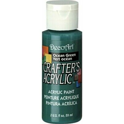 DecoArt Products Ocean Green Crafters Acylic 2oz