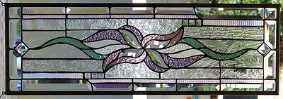 Stained Glass window hanging 31 5/8 X 10 5/8""