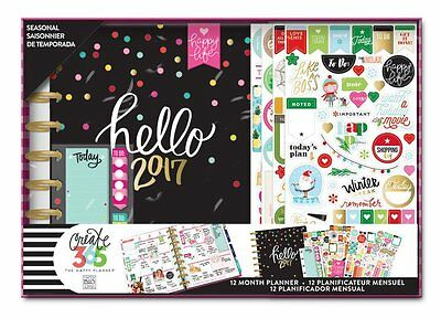 NEW MAMBI  The Happy Planner™ 12 Month Limited Box Kit -2017 Seasonal