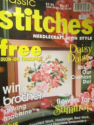 Classic Stitches Magazine #57-Machine Embroidery/Beadwork Choker/Beach Items/Chi