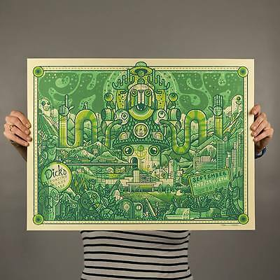 Phish Dicks Sporting Goods Park Concert Poster CO. '16 Mint Green version  LOW#!