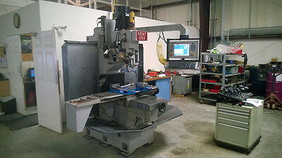 Kent TW-32QI Fully Automatic CNC Bed Mill w/ Manual DRO Capability