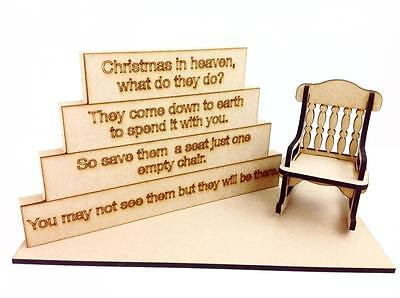 Stacking Plaque Blocks with Laser cut Rocking chair and Base Set with wording