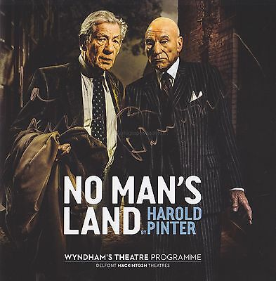 Patrick Stewart and Ian McKellen HAND SIGNED No Man's Land Programme PROOF (B)