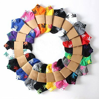 HOT 20 Colors Weed Leaf Unisex Short Ankle Socks Plantlife Skateboard Marijuana