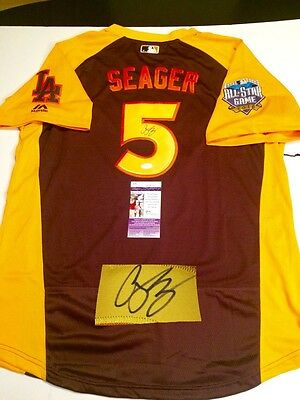 c9651e04928 Corey Seager Hand Signed 2016 All Star Jersey Los Angeles Dodgers Jsa Cert