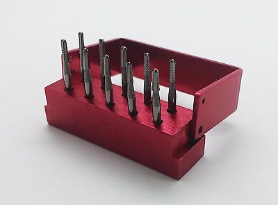 10pcs/Box Dental Tungsten Steel drills/burs For High speed Handpiece FG-1957 CA
