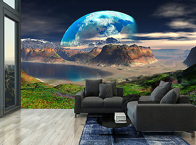 Sky Planets Space Rocks Water Star Wall Mural Photo Wallpaper GIANT WALL DECOR